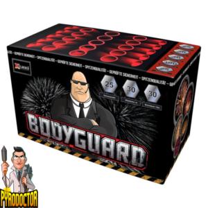 Bodyguard Feuerwerksbatterie mit 25 Schuss + Z-Fächer Batterie von Xplode - Pyrodoctor Feuerwerk Online Shop
