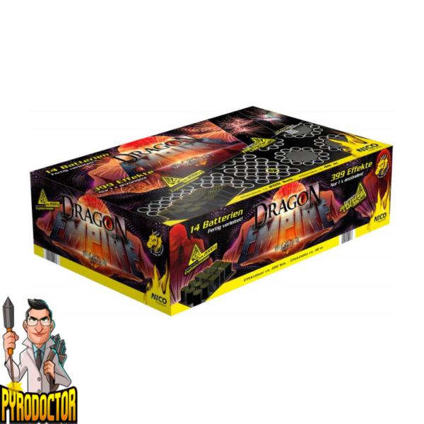 Dragon Empire Feuerwerkverbund mit 399 Schuss + 5 Effekt-Phasen von NICO - Pyrodoctor Feuerwerk Online Shop