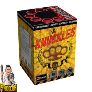 Knuckles Feuerwerksbatterie mit 9 Schuss + Goldbukket-Effekte von Xplode - Pyrodoctor Feuerwerk Online Shop