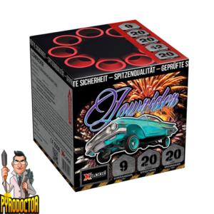Lowrider 9 Schuss Feuerwerksbatterie + 20 Sekunden Brenndauer von NICO - Pyrodoctor Feuerwerk Online Shop