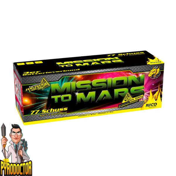 Mission to Mars Verbundbatterie mit 77 Schuss + 3 Phasen Mehrfachverbund von NICO - Pyrodoctor Online Shop