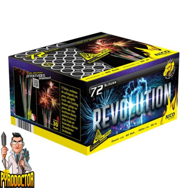 Revolution Feuerwerksbatterie mit 72 Schuss + Knister-Finale von NICO - Pyrodoctor Feuerwerk Online Shop