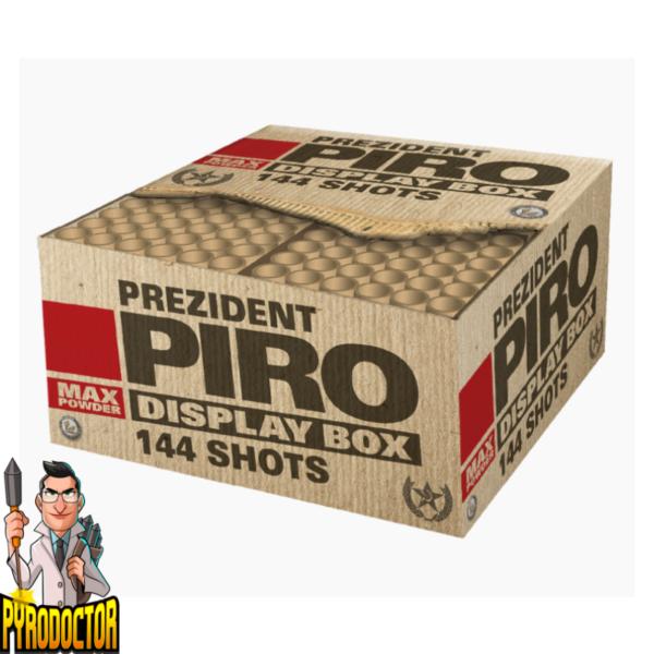 Prezident Piro vuurwerkvereniging met 144 schoten + Extreme luitsnijder van Lesli - Pyrodoctor Vuurwerk Online Shop