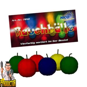 Rookballen 6-persoons zak NICO – Pakket rookbuizen in alle kleuren - Pyrodoctor Vuurwerk Online Shop