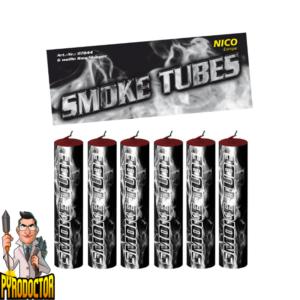 Smoke Tubes rookfakkels in wit – 6 stuks rookbuizen van NICO - Pyrodoctor Vuurwerk Online Shop