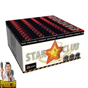 Star Club vuurwerkcake met 55 schoten + knetterende finale van Xplode - Pyrodoctor Vuurwerk Online Shop