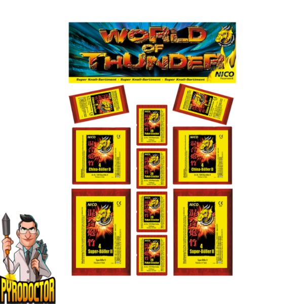 World of Thunder China-Böllersortiment + 110 Super Knalleffekte von NICO - Pyrodoctor Feuerwerk Online Shop