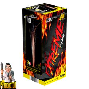 Extreme Fire römische Lichterorgel + 100 Schuss bunte Leuchtkugeln von NICO - Pyrodoctor Feuerwerk Online Shop