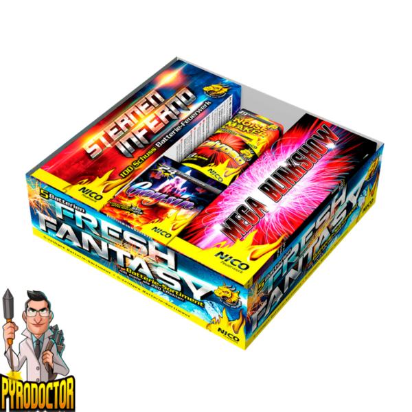 Fresh Fantasy 5-Teiliges Feuerwerk-Batterie-Sortiment + Über 286 Spezialeffekte von NICO - Pyrodoctor Feuerwerk Online Shop