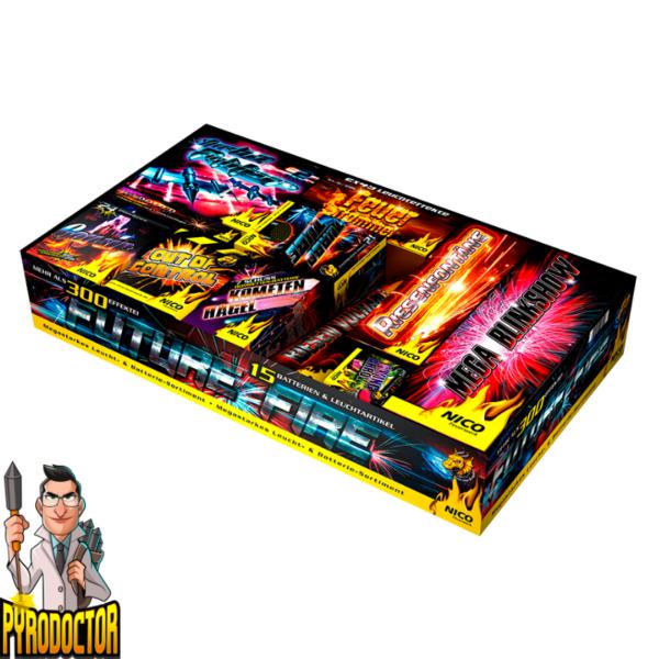 Future Fire 15-Teiliges Feuerwerk-Batterie-Sortiment + 300 Leuchteffekte von NICO - Pyrodoctor Feuerwerk Online Shop