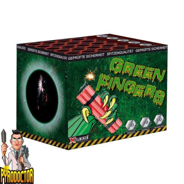 Green Fingers Feuerwerksbatterie mit 30 Schuss + Sonnenwirbel-Effekt von Xplode - Pyrodoctor Feuerwerk Online Shop