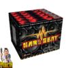 Hard Beat Fächerbatterie mit 9 Schuss + Crackling-Feuertöpfe von Xplode - Pyrodoctor Feuerwerk Online Shop
