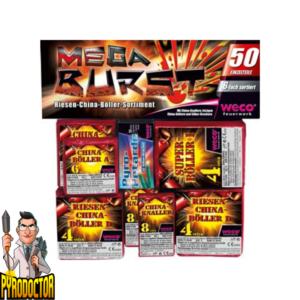 Mega Burst China Knall-Sortiment + Böllerpaket mit 50 Einzelteile von Weco - Pyrodoctor Feuerwerk Online Shop
