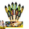 Profi Power 10-delig raketassortiment + bomflitseffecten van NICO - Pyrodoctor vuurwerk online shop
