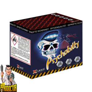 Psychobilly Feuerwerk-Batterie mit 48 Schuss + Irre Moskito-Soundbatterie von Xplode - Pyrodoctor Feuerwerk Online Shop