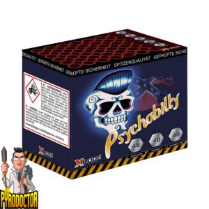 Psychobilly Vuurwerkbatterij met 48 Shot + Mad Mosquito Sound batterij van Xplode Pyrodoctor Vuurwerk Online Shop