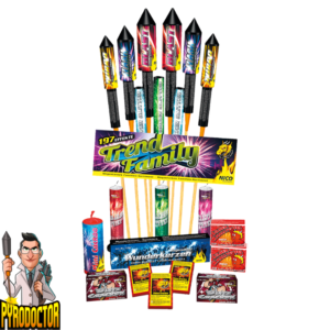 Trend familie 197-delige vuurwerkserie + XXL gezinspakket van NICO - Pyrodoctor Vuurwerk Online Shop