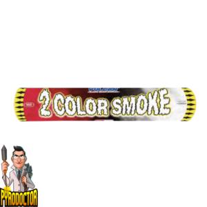 2 Color Smoke in Rot Weiß + 2-farbige Rauchbombe von Vulcan - Pyrodoctor Feuerwerk Online Shop