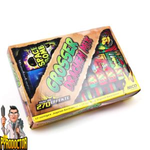 Großer Drachen Mix 17-teilig + Jugend-Sortiment mit 270 Effekte von NICO - Pyrodoctor Feuerwerk online Shop -