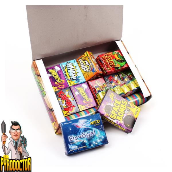 Großer Drachen Mix 17-teilig + Jugend-Sortiment mit 270 Effekte von NICO - Pyrodoctor Shop - Offene Box