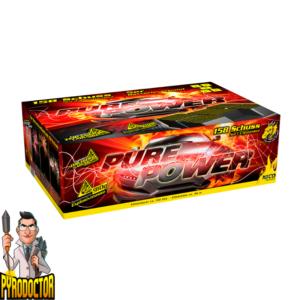 Pure Power Batterie Verbund mit 158 Schuss + Explosiv Zerleger Ladung von NICO - Pyrodoctor Feuerwerk Online Shop