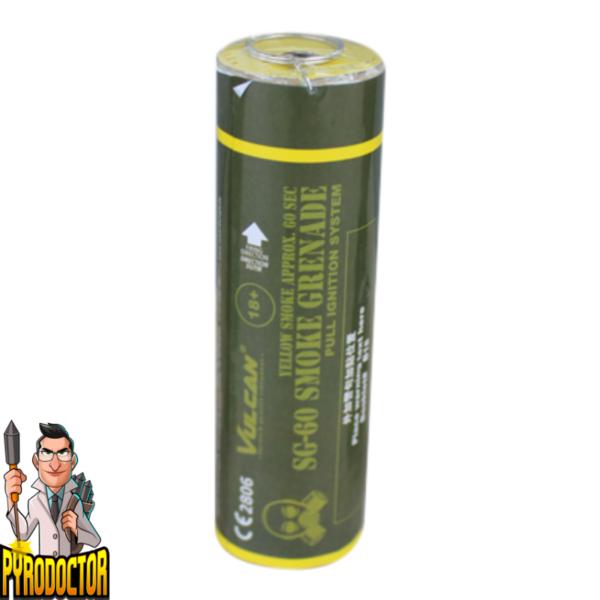 SG-60 Rauchgranate in Gelb mit Reißzünder von Vulcan