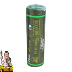 SG-60 Rauchgranate in Grün mit Reißzünder von Vulcan - Pyrodoctor Feuerwerk Online Shop