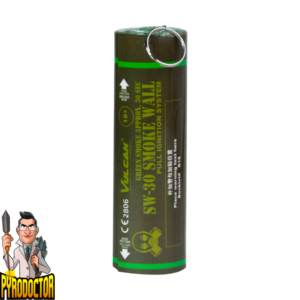 SW-30 Smoke Wall in Grün + Rauchwand mit Reißzünder von Vulcan ohne Kappe - Pyrodoctor Feuerwerk Onlione Shop