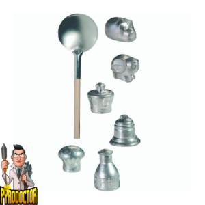 Wachsgießen mit 6 extra großen Hohlfiguren + Orakelheft & Gießlöffel von NICO - ausgepacktes set- - Pyrodoctor Feuerwerk Online Shop