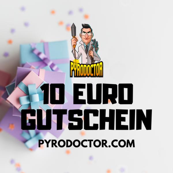 10 Euro Gutschein im Pyrodoctor Feuerwerk Online Shop