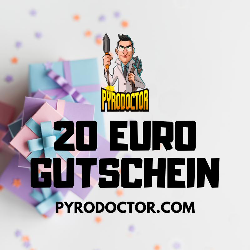 20 Euro Gutschein im Pyrodoctor Feuerwerk Online Shop