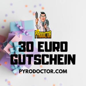 30 Euro Gutschein im Pyrodoctor Feuerwerk Online Shop
